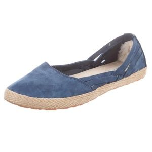 UGG Cecily Blue Suede Espadrille Flats. 7.5